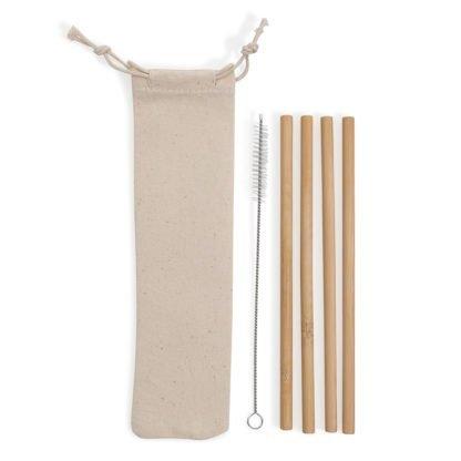 Kit Canudos de bambu 4 pçs BG072-002