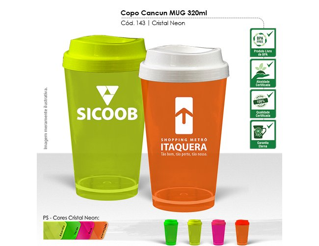Copo Cancun Cristal MUG 320ml 143-003