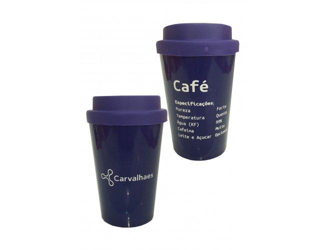 Copo de Café com Tampa Emborrachada 0008-010