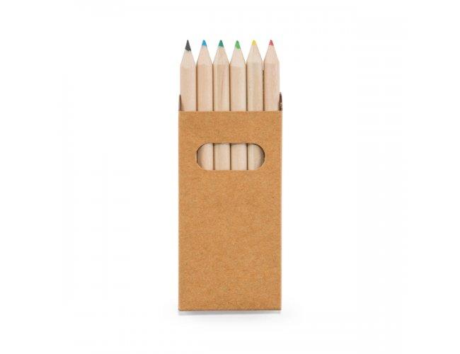 Caixa de Cartão - 6 Mini Lápis de Cor 91750-004