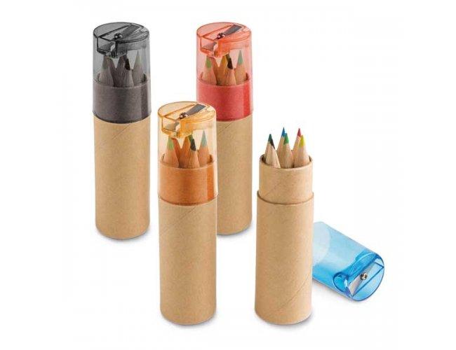 Caixa de cartão - 6 mini lápis de cor 91751-004