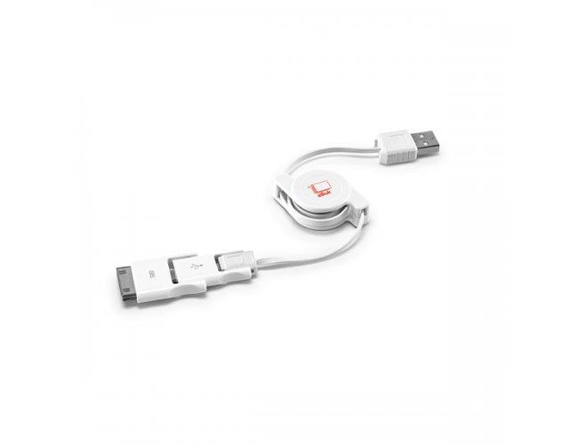 Cabo USB retrátil 3 em 1 97313-004