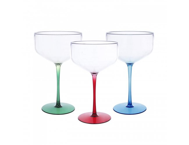 Taça Coupe 390 ml Bicolor PL-C390BC-029