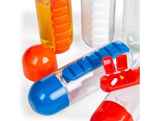 Squeeze Plástico 700ml Com Porta Comprimidos 13996-001