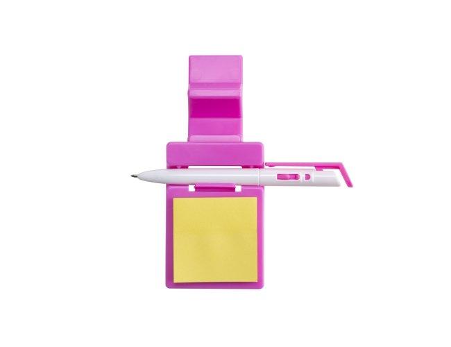 Suporte Plástico Celular com Caneta e Bloquinho 14007-ROS-001