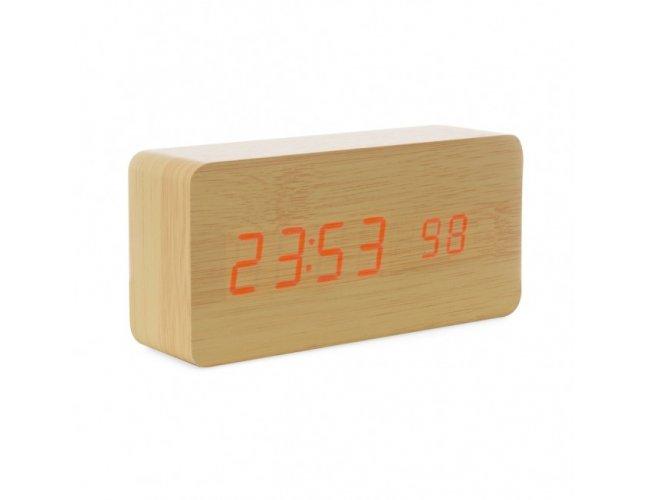Relógio de Madeira com Display LED 18563-001
